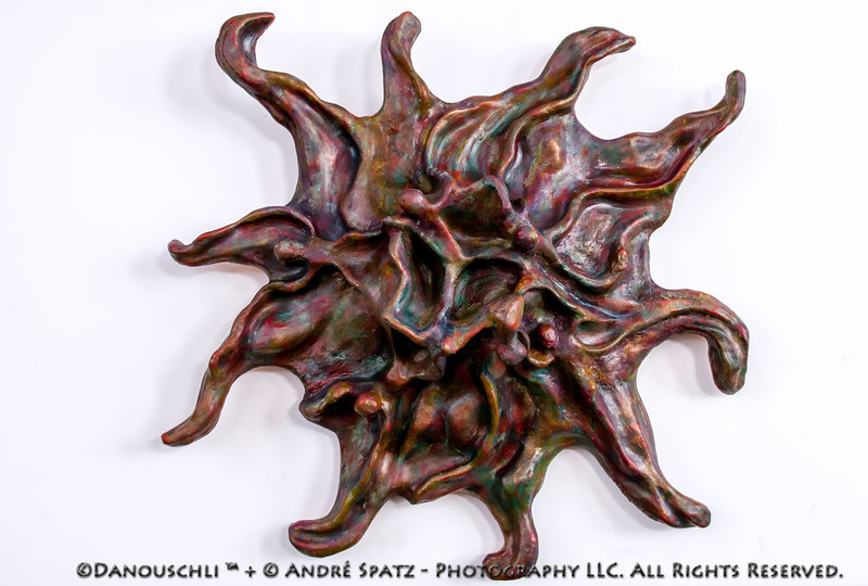 Mastectomy © Danouschli™, clay sculpture, approx. 18 inches.