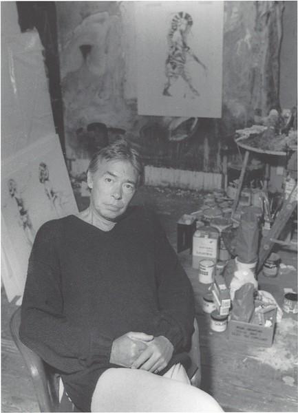 Robert Heindel in his Studio