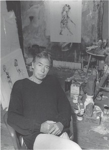 Robert Heindel in his Studio