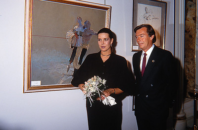 Princess Caroline and Robert Heindel