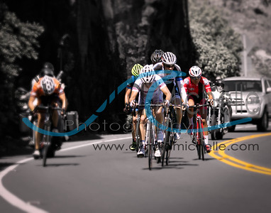 Cycling during the Dick Evans Memorial Road Race on Oahu