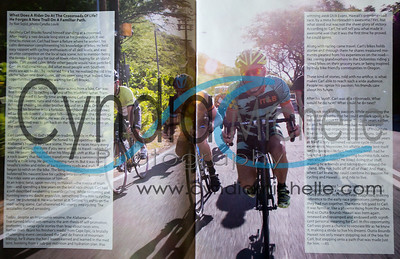 Carl Brooks and friends cycling down Diamond Head near Waikiki Beach on September 6, 2014. Photo published in the Nov/Dec 2014 issue of Hawaii Sport magazine.