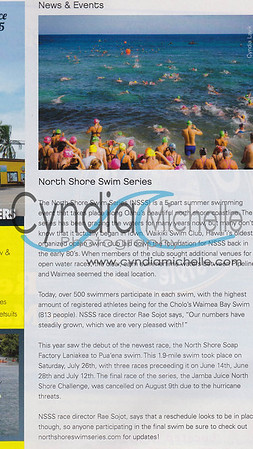 North Shore Swim Series 2014, published in Freesurf Magazine V11-N9