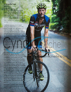 Carl Brooks riding up the Old Pali Highway road on August 27, 2014. Photo published in the Nov/Dec issue of Hawaii Sport magazine.