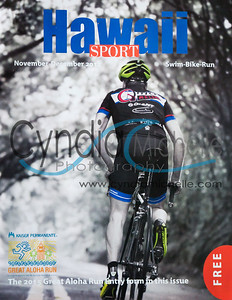 Carl Brooks riding up the Old Pali Highway road on August 27, 2014. Photo published in the Nov/Dec issue of Hawaii Sport magazine (cover)