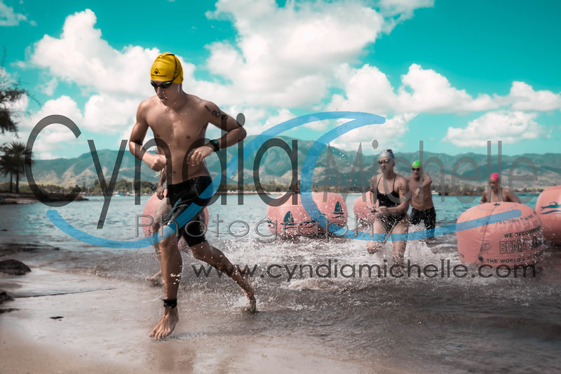 Jakob Dewald during the North Shore Swim Series on July 26, 2014