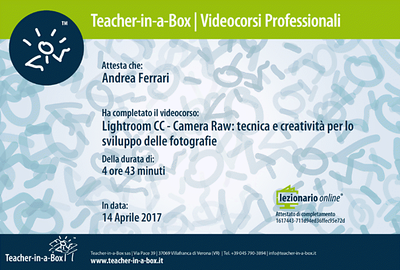 Lightroom CC - Camera Raw tecnica e creatività per lo sviluppo delle fotografie