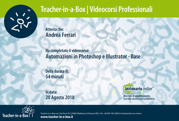 Automazioni in Photoshop e Illustrator - Base