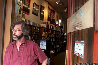 Phillip Barry, Mgr, Shambhala Booksellers, Telegraph Avenue, Berkeley