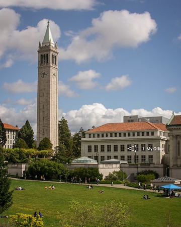 Sather Tower and Doe Library