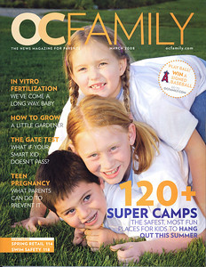 Lisa Detrick did this Cover for OCFAMILY magazine