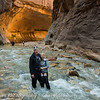 """Greg & I  after hiking """"The Narrows"""" Zion 2014"""