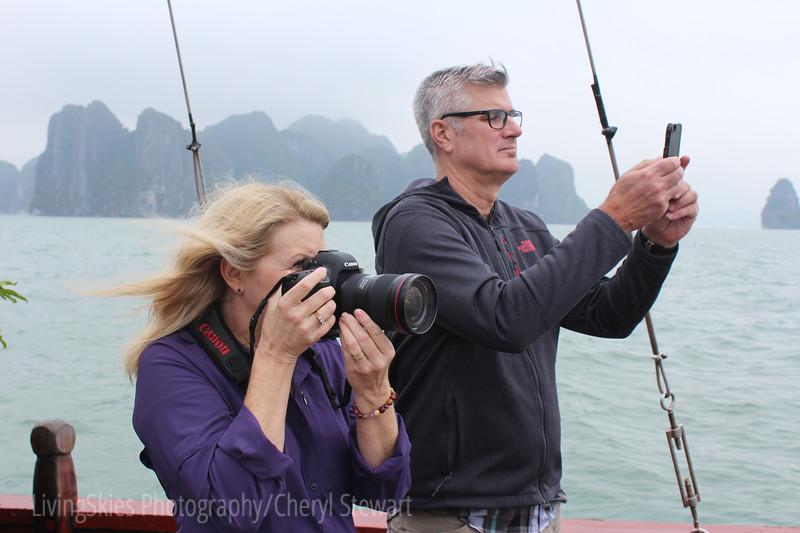 Greg & I in Ha Long Bay, Vietnam