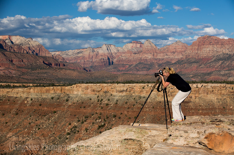 Getting ready for sunset, Zion Oct 2014
