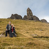 After climbing to the Old man of Storr on the Isle of Skye