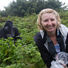 Bad hair day in the rain, with a Silverback in Rwanda April 2012