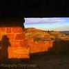 self portrait, Theodore Roosevelt National Park at sunset