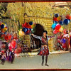 Balloons with Salomé in the Pueblo Español