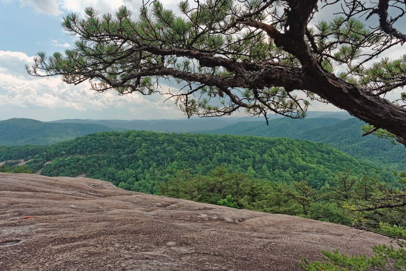 View from the top of Stone Mountain - 2,035 feet