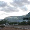 Left to right: Lung Dome, Fog Desert pyramid, Savannah / Ocean, Rain Forest pyramid.