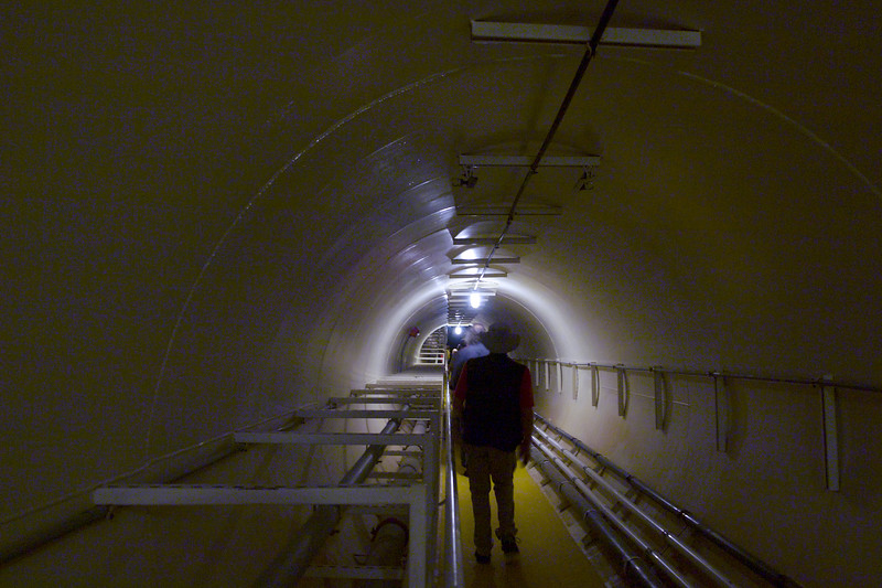Underground tunnel to one of the Lung Domes.