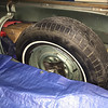 Spare tire well before removing things