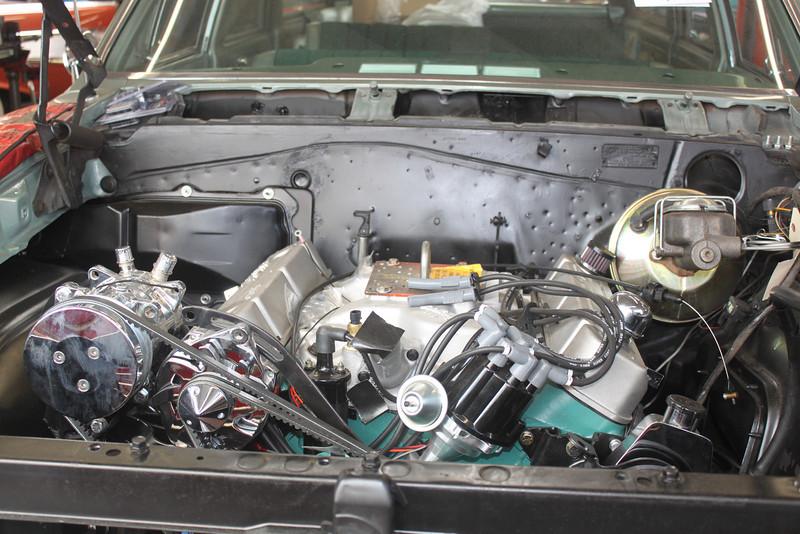 Engine leveled