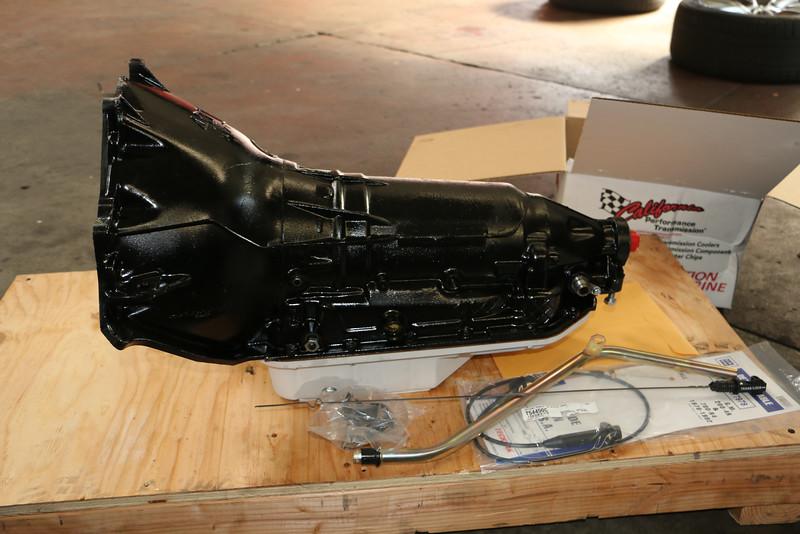 Biquette's first Art Carr 200-4R transmission - driver's side