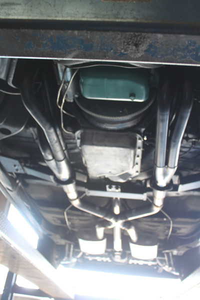 Exhaust system viewed from front