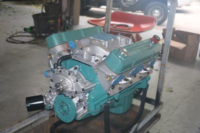 Biquette's engine at Orinda Motors - port front