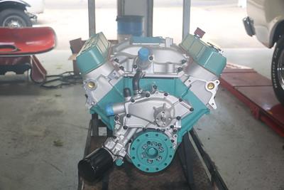 Biquette's engine at Orinda Motors - front