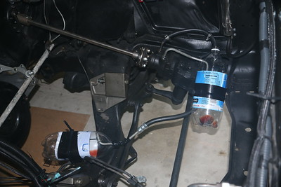 Bottles to catch power steering fluid