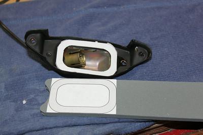 Template for license light gasket