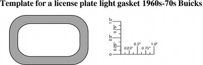 License lamp gasket template