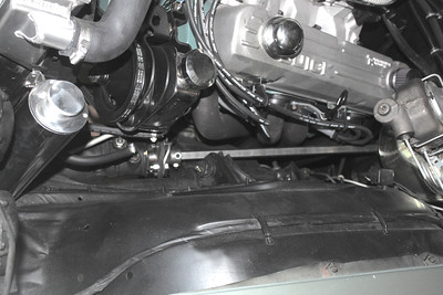 Overall view of headers and steering column