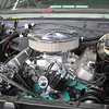Engine bay with air cleaner installed