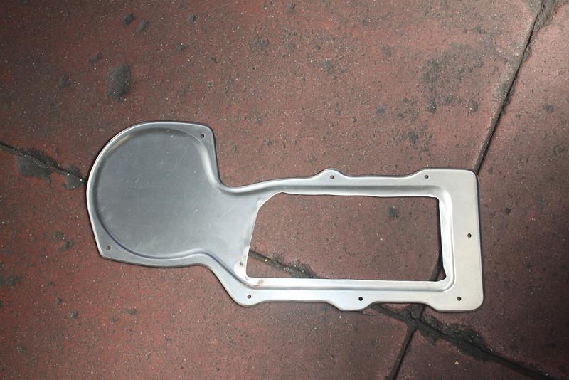 Modified Detroit Speed heater delete plate
