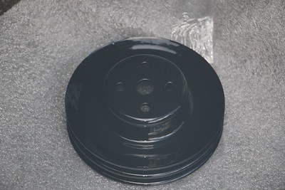 Power-coated Water pump pulley - back