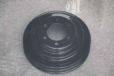 Power-coated Crankshaft pulley - back