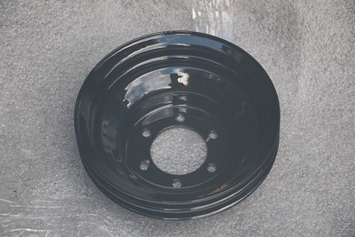 Power-coated Crankshaft pulley - front