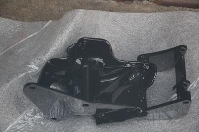 Power-coated A/C compressor & alternator bracket - bottom