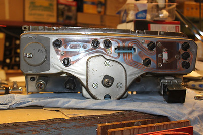 Completed speedometer assembly - back