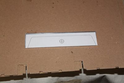 Paper template glued to aluminum