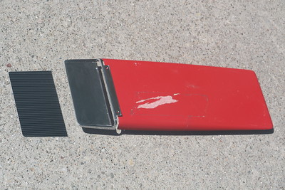 1967 Hood scoop, bezel, and insert