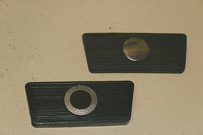 Brake pedal pad comparison - front