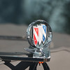 Restored hood ornament - starboard front