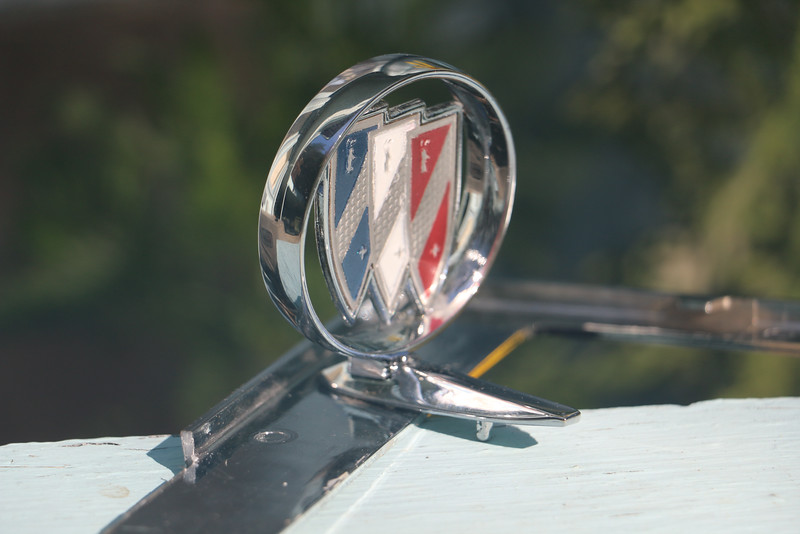 Restored hood ornament - port rear