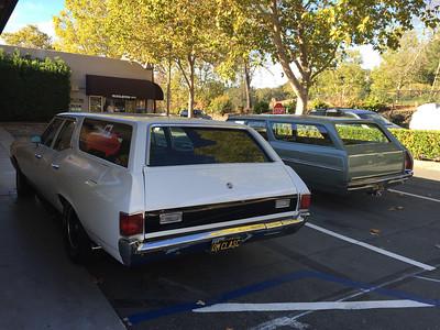 Biquette and Orinda Motors wagon - rear driver's side view