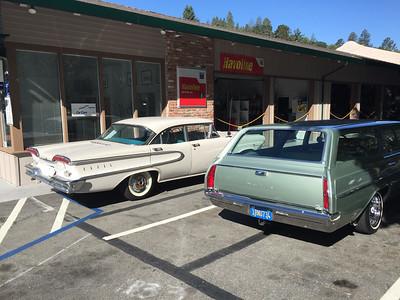 Biquette next to an Edsel Ranger at Orinda Motors