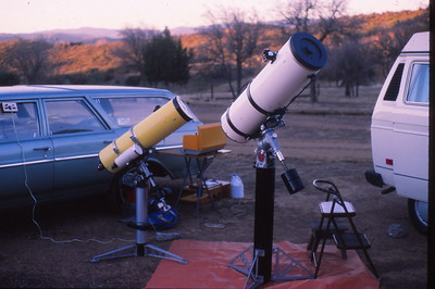 Biquette with 2 Newtonian Cassegrain telescopes